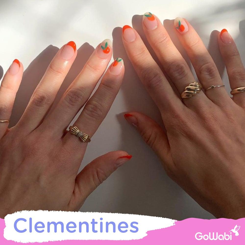 ไอเดียทาเล็บ ลาย clementines
