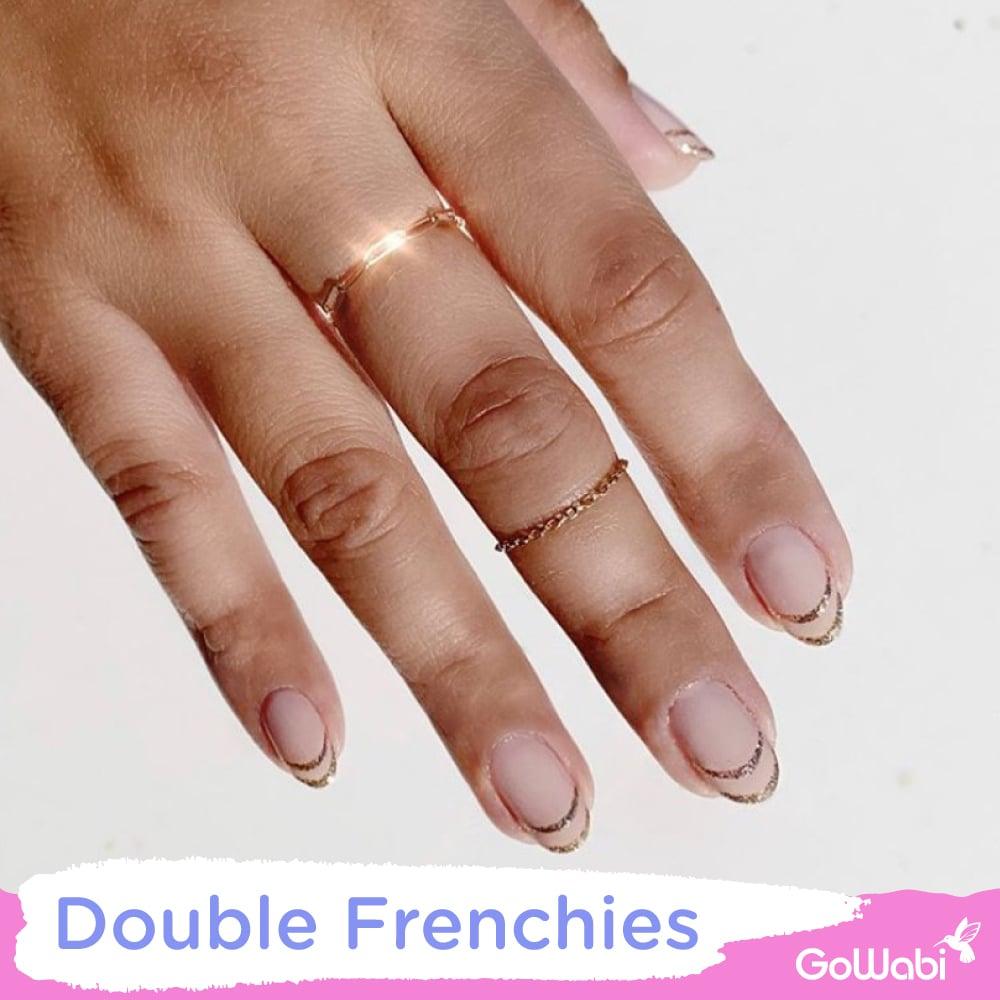 ไอเดียทาเล็บ ลาย double frenchies