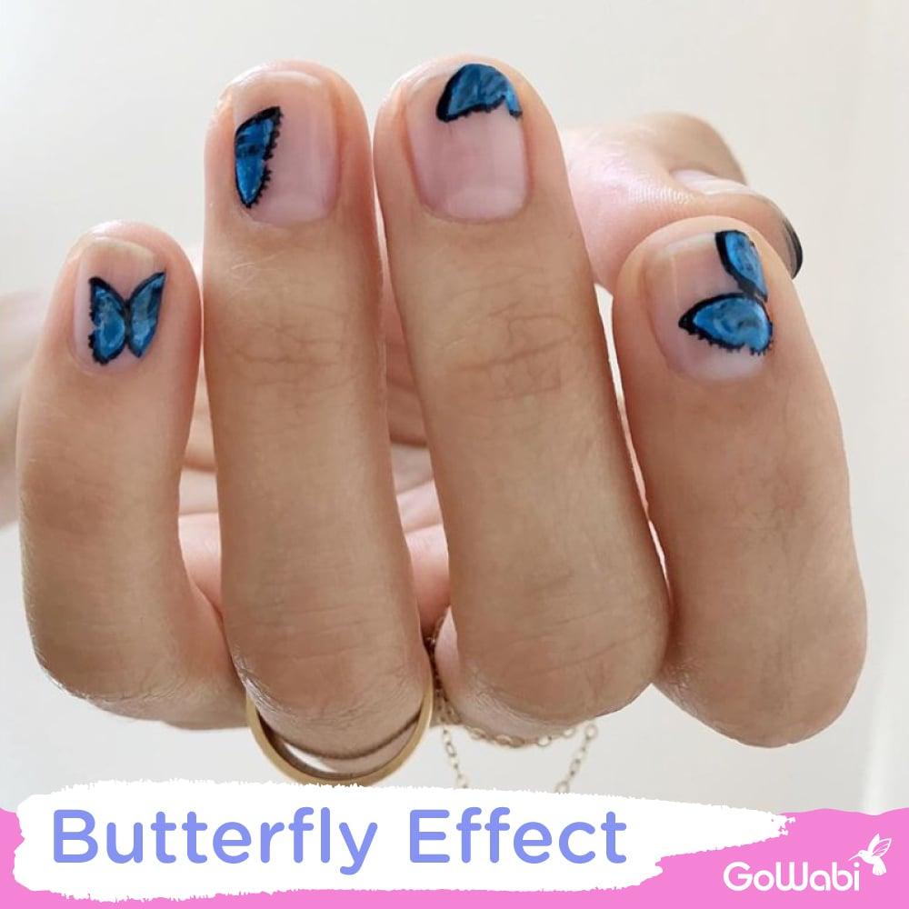 ไอเดียทาเล็บ ลาย butterfly effect