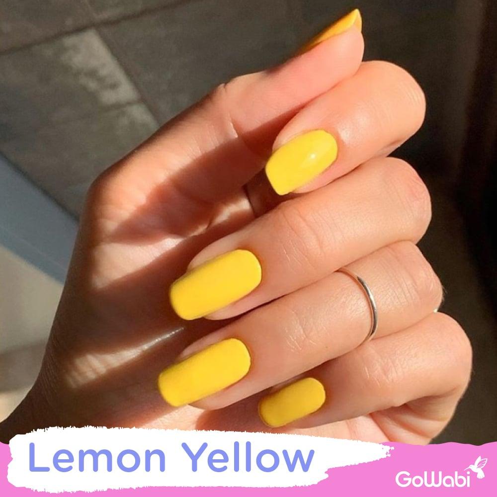 ไอเดียทาเล็บ ลาย lemon yellow