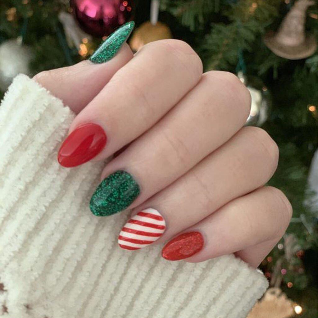 ไอเดียแต่งเล็บวันคริสมาสต์ - Christmas Nail Idea 2020