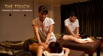 The touch therapeutic massage.